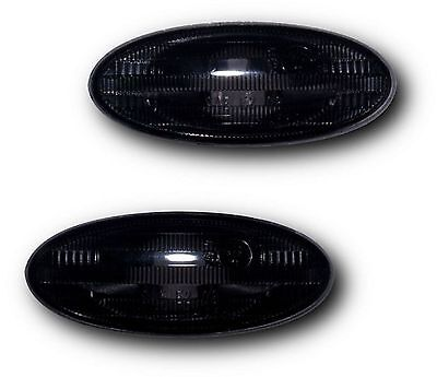 Nissan Qashqai Mk1 Facelift (10-13) Side Indicator Repeaters - Crystal Black