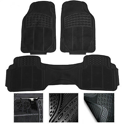 HEAVY DUTY  RUBBER FLOOR MATS 3 PIECE for FORD S-MAX 06-ON