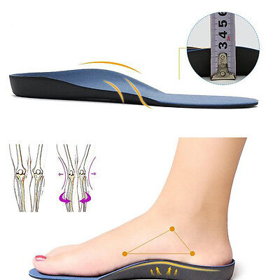 Arch Support Heel Orthotic Insoles Insert Pad Flat Foot Support Comfort XS-XL