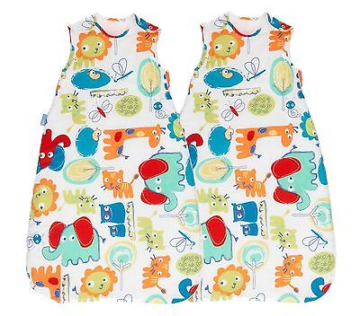 Grobag Sleeping Bag TWIN PACK - Doodle Zoo 2.5 Tog 18-36 Months