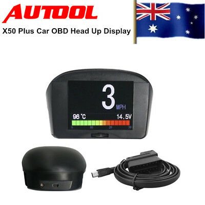 AUTOOL X200 Car OBD HUD Head-Up Display KM/h MPH Speeding Warning Safety GPS AU