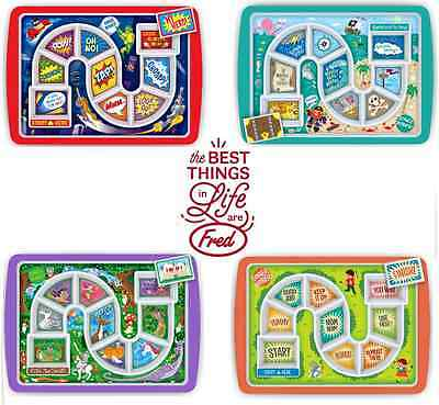Fred Dinner Winner Meal Tray Lunch Tea Fun Food Board Game Plate Children's GIFT