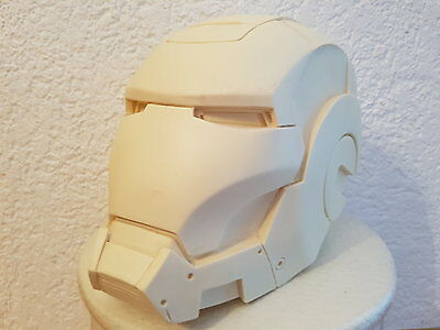Iron Man War Machine Mk. 1 Resin Helm Helmet lifesize raw