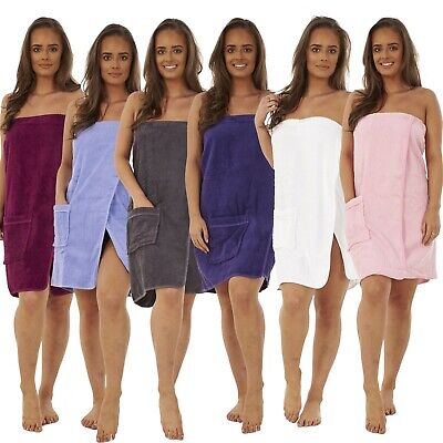 100% Cotton Ladies Women Luxury Shower Towel Wrap Towelling Bath Beach Cover Up