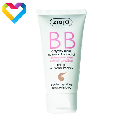 ZIAJA BB FACE CREAM FOR NORMAL DRY SENSITIVE SKIN SPF15 TANNED SHADE 50ml 01223