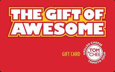 $25 Tom+Chee Physical Gift Card - Standard 1st Class Mail Delivery