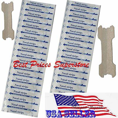 200 pcs NASAL STRIPS (SMALL/MEDIUM) Breathe Better Reduce Snoring 55 x 18 mm