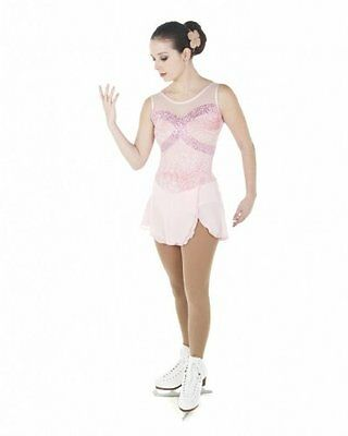New Competition Figure Skating Dress XPRESSION 1462 Pink Adult Large AL