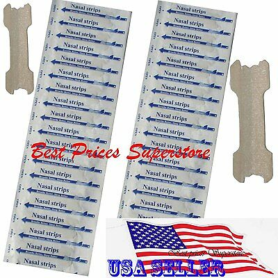 100 pcs NASAL STRIPS (LARGE) Breathe Better Reduce Snoring 67 x 19 mm
