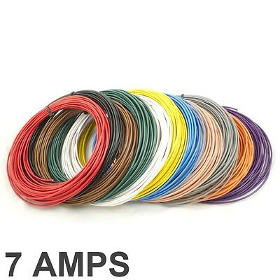 *7 AMP Rated* 0.35mm2 Thin Wall Single Core Cable / Wire - 11 Colour Selection