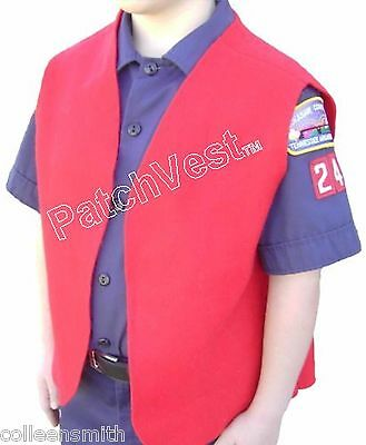 FELT Cub Boy Scout Red Patch Brag Award Vest Youth NEW