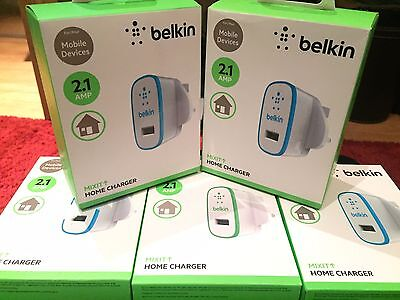 Belkin 2.1 Amp Ultra Fast USB Wall Charger for iPhone 6 6s 6 Plus Smartphones