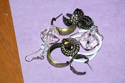 Five (5) Pairs of Various Style Post Earrings *STYLISH*