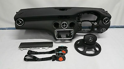 Mercedes Benz A Class Mb W176 Airbag Kit Set Driver Passenger  Knee Belts