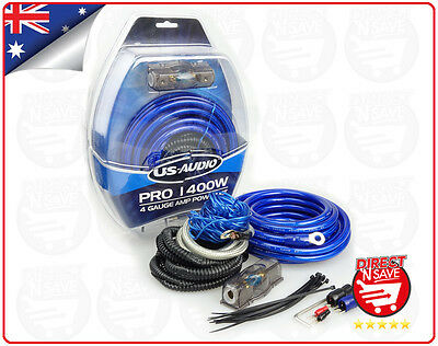 4 GAUGE 18AWG 4CH 1400W Amplifier Wiring Kit Car AMP 6Metres Premium Cables. PRO