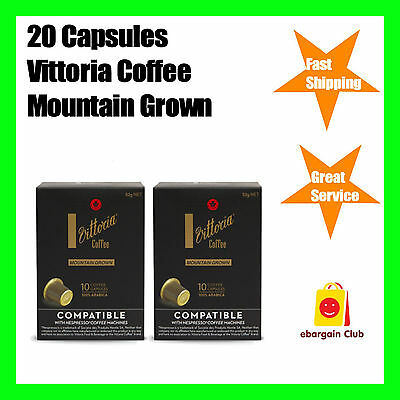 20 Capsules Vittoria Mountain Grown Coffee Capsule Pod Nespresso System