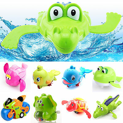 High New Wind up Swimming Animal Toy For Kids Baby Children Pool Bath Time