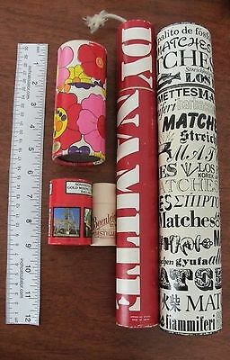5 x vintage match boxes dynamite flowers sovereign hill beenleigh rum souvenir
