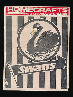 1976 Homecrafts Swan Districts Swans WAFL sticker r