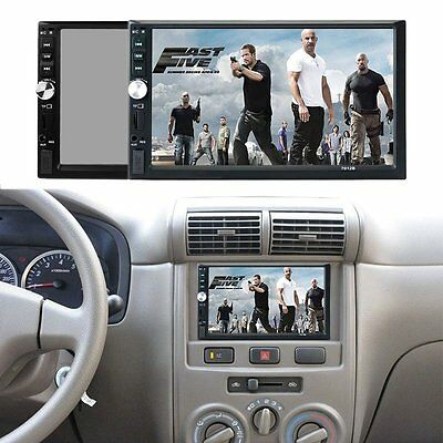 "7"" TFT 1080P Touch Screen Bluetooth Car MP5 Player 12V Car Audio Video FM USB SD"