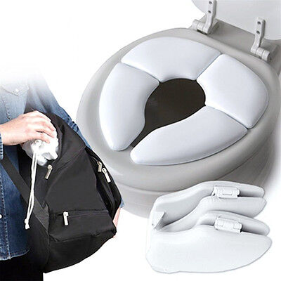 Baby Toddler Travel Potty Cushion Portable Folding Padded Toilet Training Seat