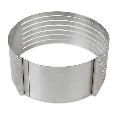 Adjustable Scalable Round Stainless Steel Mousse Cake Layer Slicer Cut Ring Mold