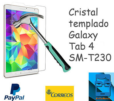 "Cristal templado tablet Galaxy Tab 4 de 7""- T230 tempered glass Samsung"