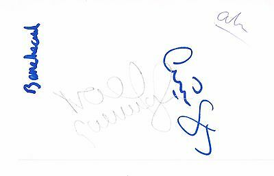 """Oasis Noel Gallagher Hand Signed Autographed 5.5"""" x 3.5"""" Early Framing Post Card"""