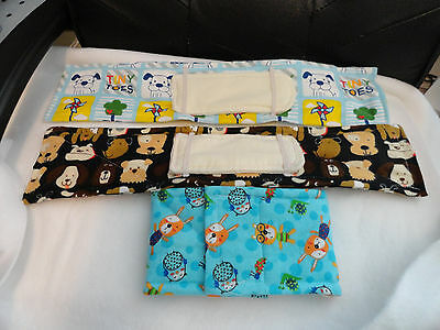 """Dog Diapers Male, New With A Washable Insert***set Of 3, 15-16"""" Waist, Handmade"""