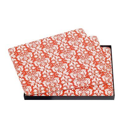 NEW Ogilvies Designs Red Damask Set Placemats of 6