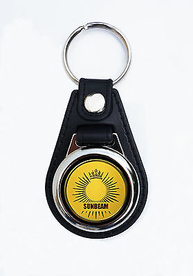 Sunbeam Motorcycles Faux Leather Key Ring / Key Fob.vintage British Motorcycles.