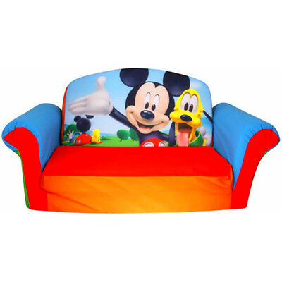 Mickey Mouse Toddler Couch Chair Kids Bed Nap Lounger 2 in 1 Seat Bed New