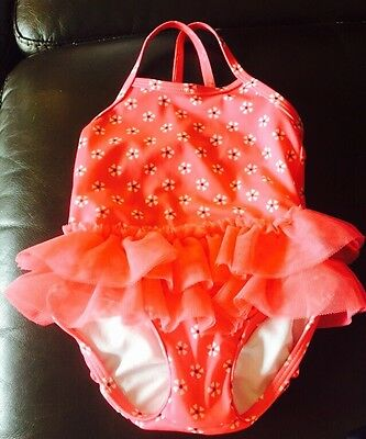 NWT Gymboree First Play Date Girl Tutu Pink Floral Sunscreen Swim 12-18 M