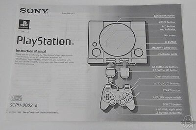 ORIGINAL REPLACEMENT CONSOLE MANUAL - English - PlayStation - PS1 - Sony