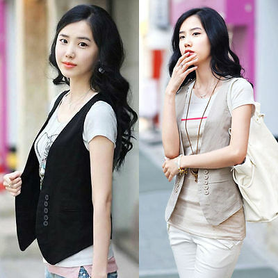 2016 New Women's Double-breasted Waistcoat Fashion Ladies Vest Coat Tops