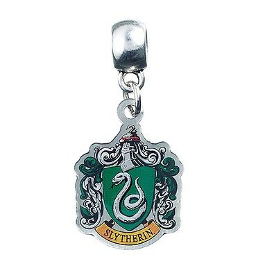 Official Harry Potter Slytherin Crest Silver Plated Slider Charms Bracelet Bead