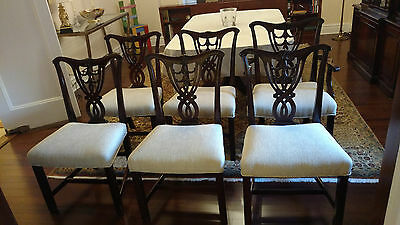 Mahogany Chippendale Chair 1920's Reproduction