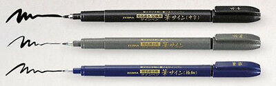 ZEBRA  Disposable Brush Pen - 3 Pens ( Super Fine / Fine / Medium )