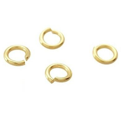 18K Solid Yellow Gold Open Jump Ring 24 Gauge 2.4mm Findings