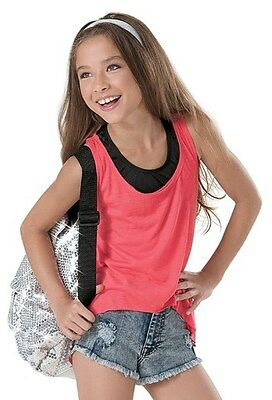 New Hip Hop Tank Top Lightweight High Low Coral SIZE Adult Small