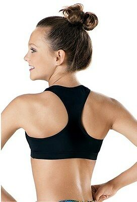 New Hip Hop Bra Top Wide Racerback BLACK SIZE Adult Small