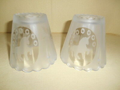 Frosted Satin Glass Unicorn  Fairy Lamp Shade Only