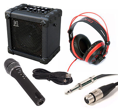 Kids Microphone and Speaker Package - USB Recording - Battery Powered