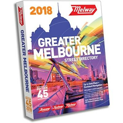 MELWAY 2018 Melbourne Street Directory Edition 45 - BRAND NEW : FREE POSTAGE