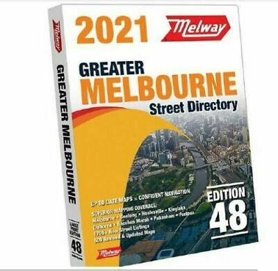 MELWAY 2019 Melbourne Street Directory Maps Edition 46 NEW MELWAYS FREE POST