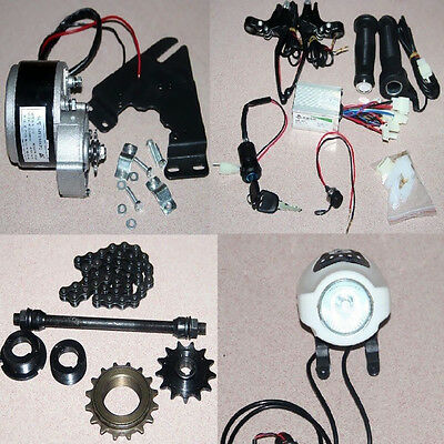 36V 350W Ebike Bicycle Refit Tools Brush Geared Motor Kits + Power Charger New