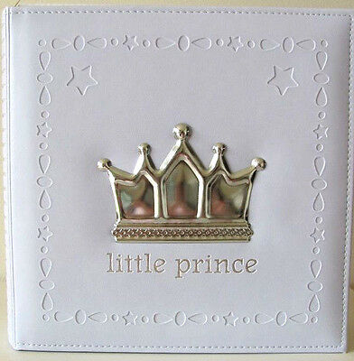 Baby Boy Prince Photo Album With Embellished Crown Keepsake Baby Newborn Gift