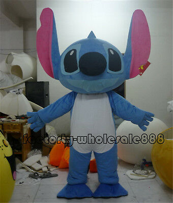 Stitch of Lilo & Stitch Mascot Costume Halloween Party Dress Outfit  Adult gift