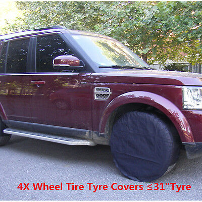 """Universal  Wheel Tire Covers Set of 4 For Trailer Truck Car Auto ≤31"""" Diameter"""