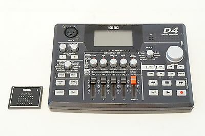 KORG D4 Digital Recorder 4 Track MTR w/ Compact Flash Multi Track Recorder